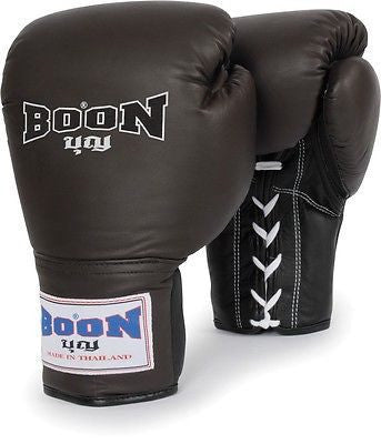 Boon Sports Leather Lace Muay Thai Training Gloves - Sedroc Sports