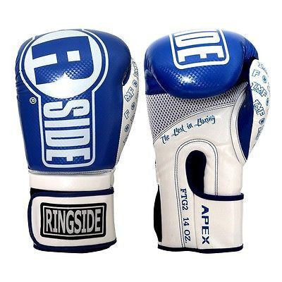 Ringside Boxing Apex Flash Sparring Gloves - Blue / White - Sedroc Sports