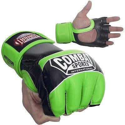 Combat Sports Pro Style MMA Training Competition Gloves - Neon Green - Sedroc Sports