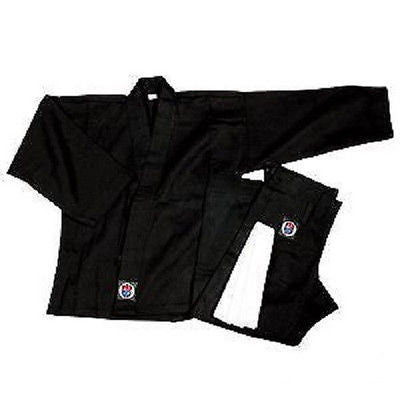 Lightweight Karate Student Uniform 6 oz Gi Gear - Black - Sedroc Sports