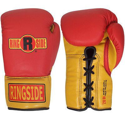 Ringside Boxing Ultimate Pro Fight Gloves - Red / Gold - Sedroc Sports
