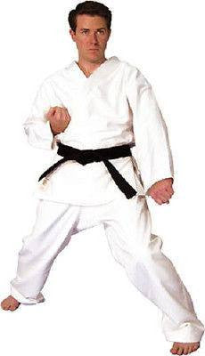 Hayashi Heavy Weight Karate Gi Uniform TKD Jiu Jitsu Judo Adult Child - White - Sedroc Sports