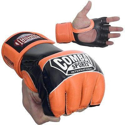 Combat Sports Pro Style MMA Training Competition Gloves - Fluorescent Orange - Sedroc Sports