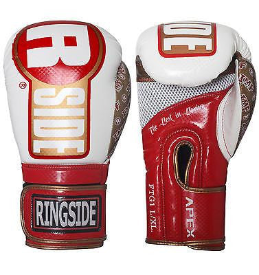Ringside Boxing Apex Fitness Bag Gloves - White / Red / Gold - Sedroc Sports