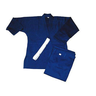 Single Weave Judo Uniform Gi - Blue with White Belt - Sedroc Sports