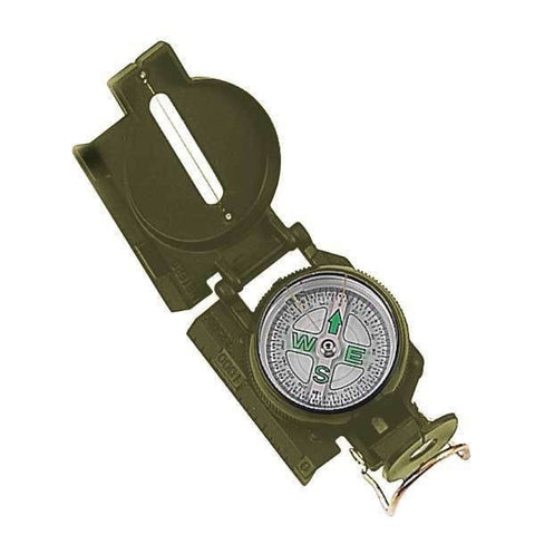Military Marching Lensatic Compass with Carrying Case - Camping Hiking Survival