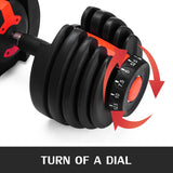Adjustable Dumbbell with Weight Select Dial - 52.5 lbs