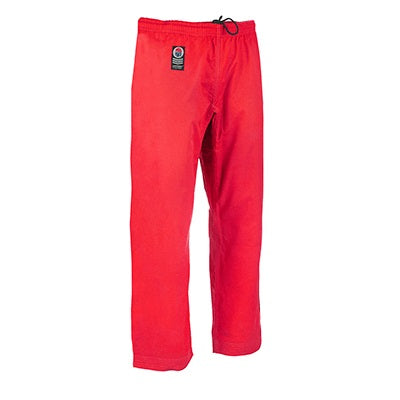 ProForce Gladiator 8 oz. Combat Karate Pants with Back Pocket - Red - Sedroc Sports