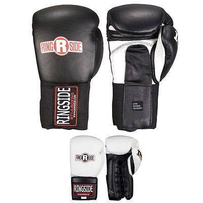 Ringside IMF Tech Boxing Gloves Training Sparring Gear Black White 14 16 18 oz