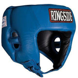 Ringside Competition Boxing Headgear Headguard No Cheeks Black Blue Red S L XL