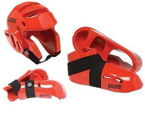 Lightning Red Karate Taekwondo Sparring Gear Set Package Deal Child and Adult - Sedroc Sports