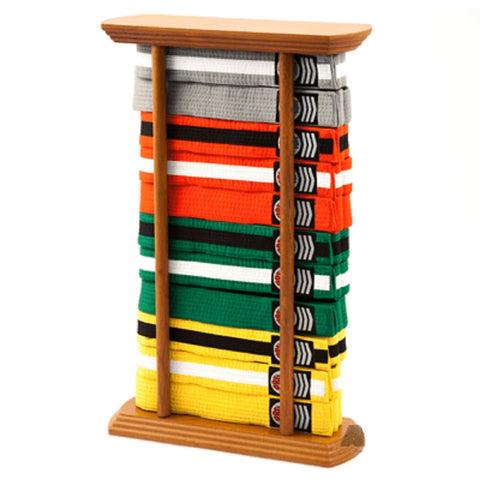 Martial Arts Belt Display Free Standing Rack Stand for Karate Taekwondo Belts - 10 Level - Sedroc Sports