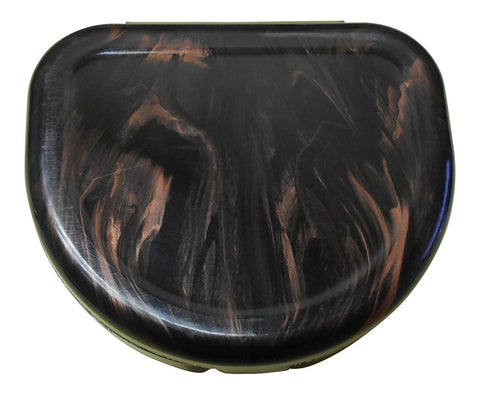 ProForce Marble Design Mouthguard Case - Black/Brown - Sedroc Sports