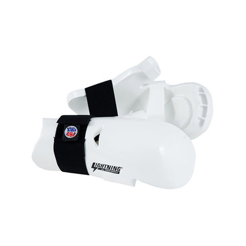ProForce Lightning Karate Sparring Gloves Punches Kids Youth and Adult - White - Sedroc Sports