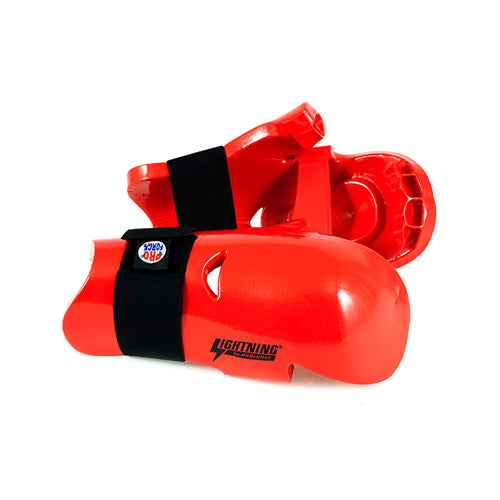 ProForce Lightning Karate Sparring Gloves Punches Kids Youth and Adult - Red