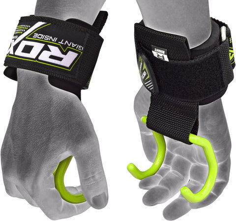 RDX Weightlifting Anchor Gym Hook Straps - Green - Sedroc Sports