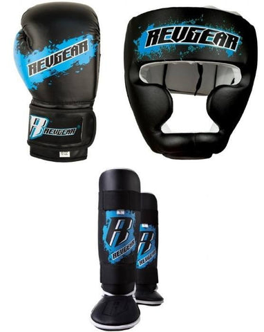 Revgear Youth Boxing MMA Sparring Gear Set - Blue - Sedroc Sports