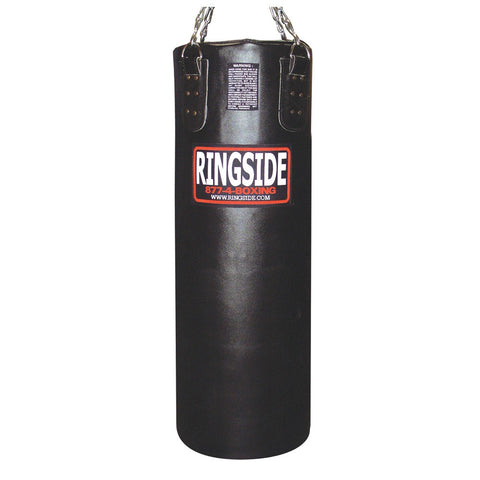 Ringside Soft Filled Leather 65 lb Heavy Bag with Chain and Swivel - Sedroc Sports