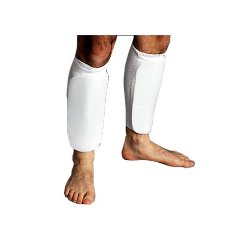 ProForce Cloth Sparring Shin Guards - White - Sedroc Sports