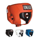 Ringside Competition Boxing Headgear Headguard No Cheeks Black Blue Red S L XL - Sedroc Sports
