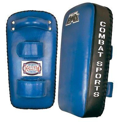 Combat Sports Air Muay Thai Pads MMA Training Kickboxing Strike Kick Pads Blue - Sedroc Sports