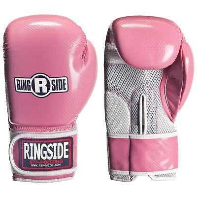 Ringside Boxing Womens Aerobic Fitness Bag Gloves - Pink 10 oz