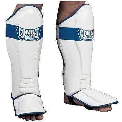 Combat Sports Kickboxing Shin Guards MMA Muay Thai Sparring Instep Gear Training - Sedroc Sports