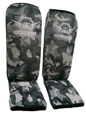 Martial Arts Armory Elastic Cloth Shin Guards - Camo - Sedroc Sports