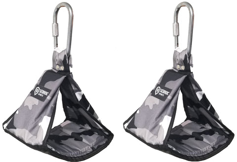 Sedroc Ab Slings Padded Hanging Abdominal Workout Straps - Gray Camo - Sedroc Sports