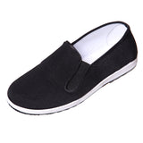 Sedroc Kung Fu/Tai Chi Shoes Black Rubber Sole Slip on Canvas Wushu Slippers for Men's and Women's