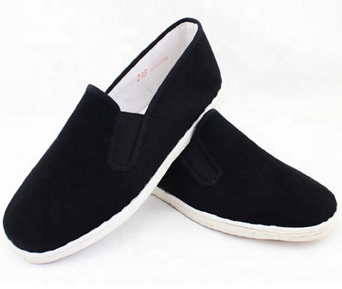 Sedroc Kung Fu/Tai Chi Shoes Cotton White Sole Slip on Canvas Wushu Slippers