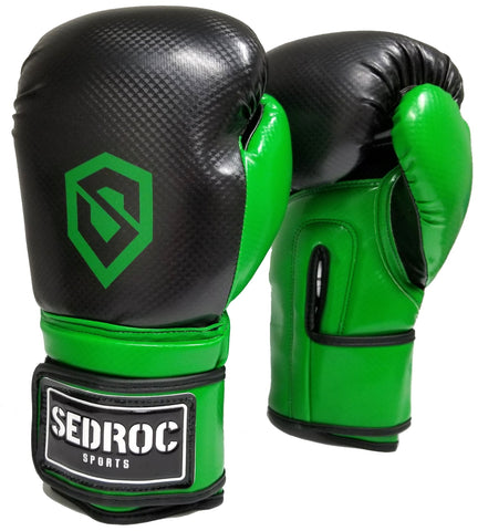 Sedroc Boxing Vortex Training Gloves - Green - Sedroc Sports