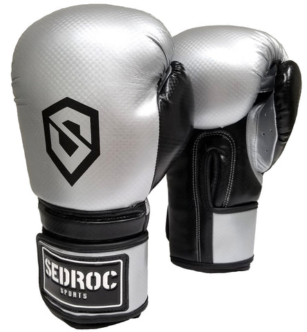 Sedroc Boxing Vortex Training Gloves - Silver - Sedroc Sports