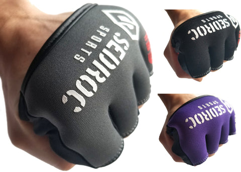 Sedroc Sports Boxing Gel Fist Guards Slip on Knuckle Shields