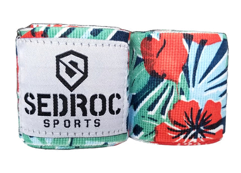 "Sedroc Boxing Mexican Style Hand Wraps - 180"" - Hawaiian - Sedroc Sports"