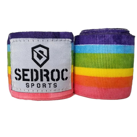 "Sedroc Boxing Mexican Style Hand Wraps - 180"" - Rainbow - Sedroc Sports"