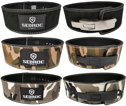 Sedroc Sports Weight Lifting Lever Leather Pro Powerlifting Belt