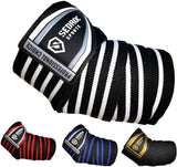 Sedroc Sports Professional Weight Lifting Elbow Wraps Powerlifting Support Sleeves - Pair - Sedroc Sports