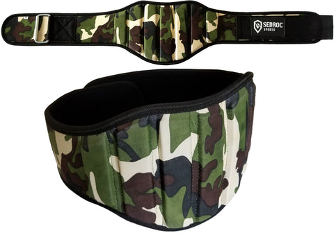 Sedroc Sports Weight Lifting Belt - Green Camo - Sedroc Sports