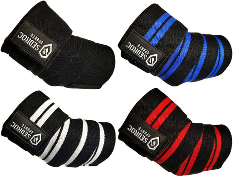 Sedroc Sports Weight Lifting Elbow Wraps - Pair