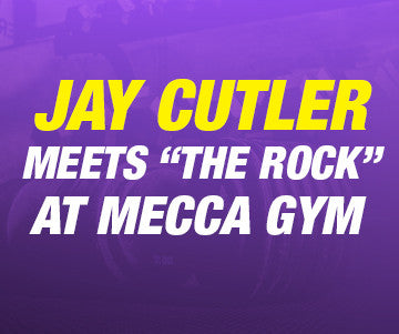 Jay Cutler Meets The Rock at Mecca Gym - Cutler Nutrition