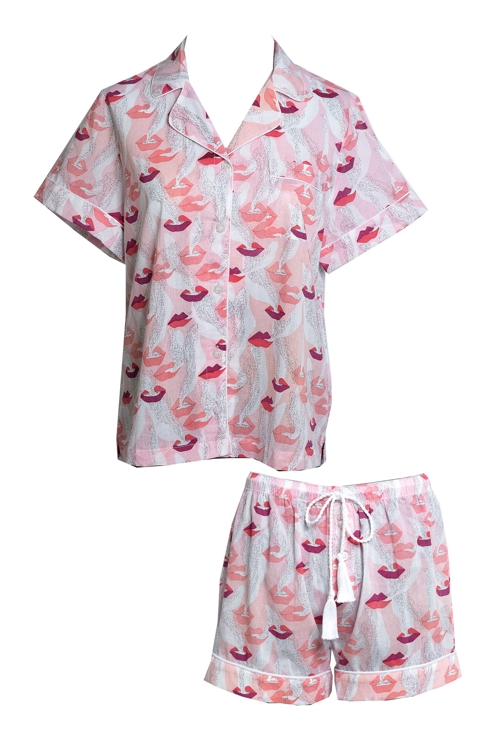 PREORDER Smoking Lips Shortie Pajamas