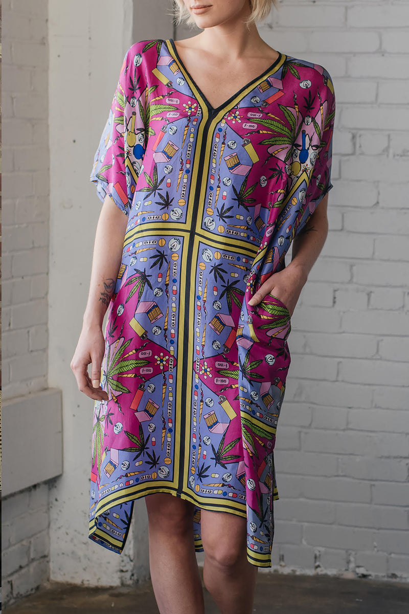 Valley of the Dolls Silk Midi Kaftan