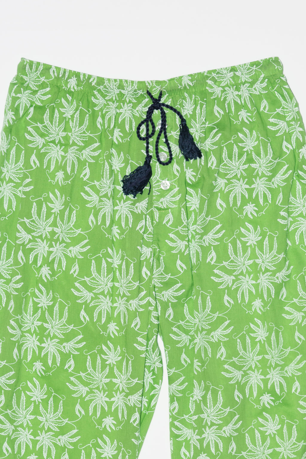 Pot Toile Printed Pajamas in Greenery