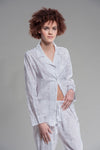 Pot Toile Printed Pajamas in White