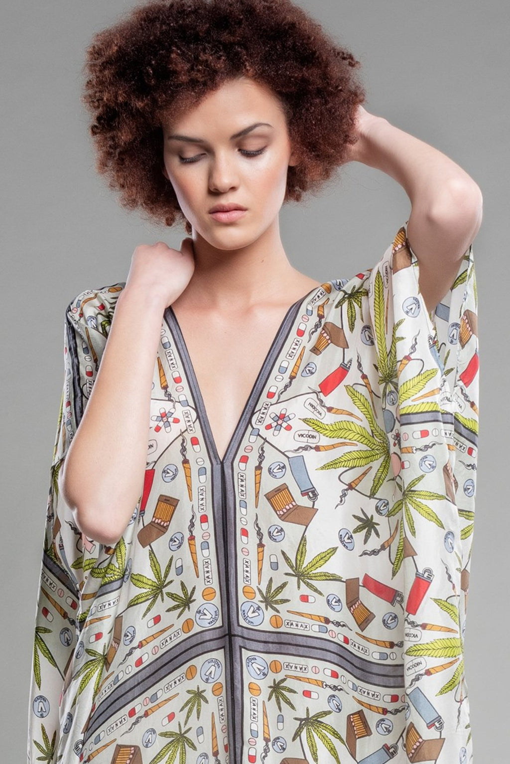 Valley of the Dolls Silk Kaftan
