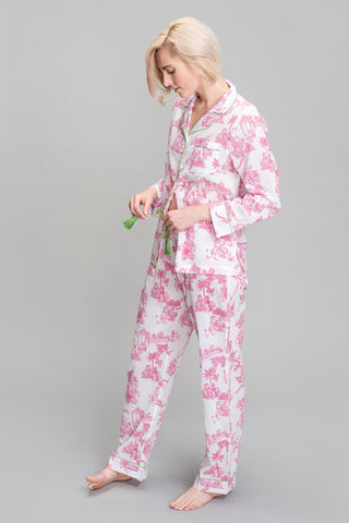 Matchstick Printed Pajamas in Blue