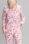 Smoking Lips Printed Pajamas in Iris