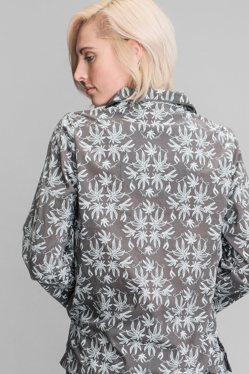 Pot Toile Printed Pajamas in Smoke