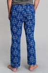 Men's Pot Toile Pajama Pants in Yves Klein Blue